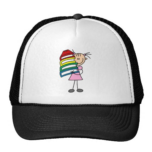 Stick Girl With Books Trucker Hats