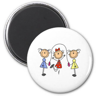Stick Girls Jumping Rope Magnet