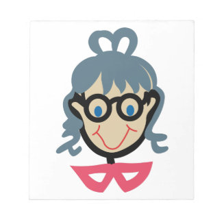 Stick Grandma Face Notepads