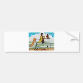 STICK HORSE American Saddlebred Bumper Sticker