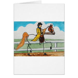 STICK HORSE American Saddlebred Card
