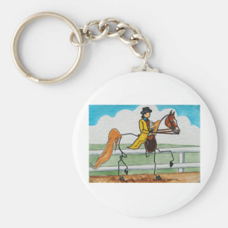 STICK HORSE American Saddlebred Keychain