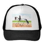 STICK HORSE Brown Trot Dressage Mesh Hats