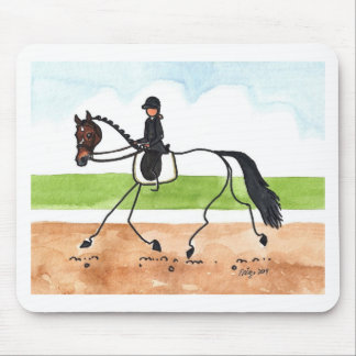 STICK HORSE Brown Trot Dressage Mouse Pad