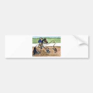 STICK HORSE calf roping Bumper Sticker