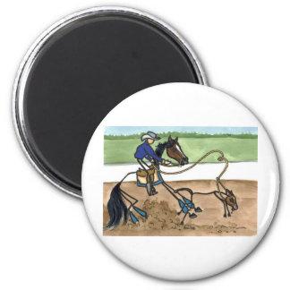 STICK HORSE calf roping Magnet