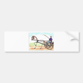 STICK HORSE Carriage Driving Bumper Sticker