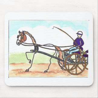 STICK HORSE Carriage Driving Mouse Pad