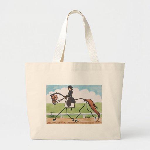 STICK HORSE Chestnut Dressage Trot Jumbo Tote Bag