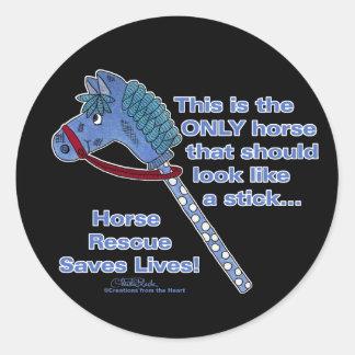 Stick Horse Classic Round Sticker