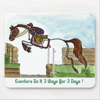 STICK HORSE Eventers 3 Ways Mouse Pad