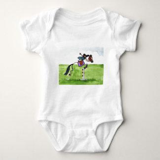 STICK HORSE Pony Showjumping Baby Bodysuit
