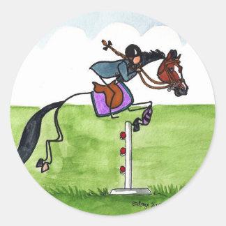 STICK HORSE Pony Showjumping Classic Round Sticker