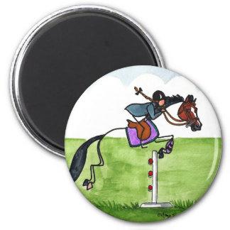 STICK HORSE Pony Showjumping Magnet