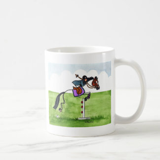 STICK HORSE Pony Showjumping Classic White Coffee Mug