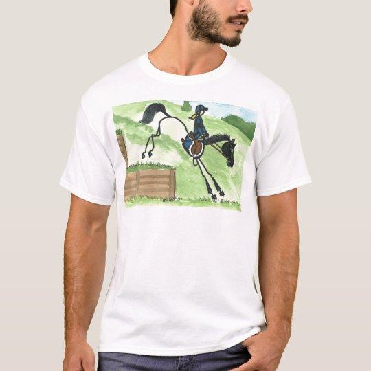 STICK HORSE XC Eventer Black at Steps T-Shirt
