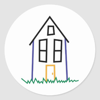 Stick House Classic Round Sticker