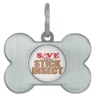 Stick Insect Save Pet ID Tag