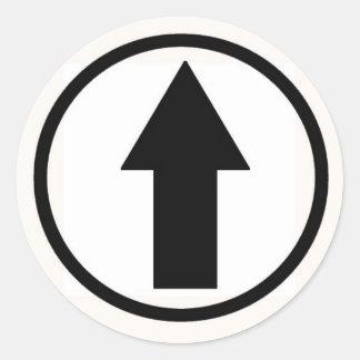 Stick it to the influence - Black Classic Round Sticker