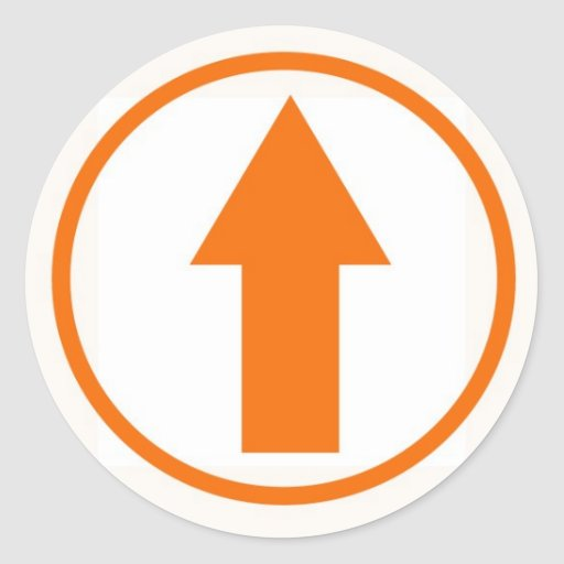 Stick it to the influence - Orange Sticker