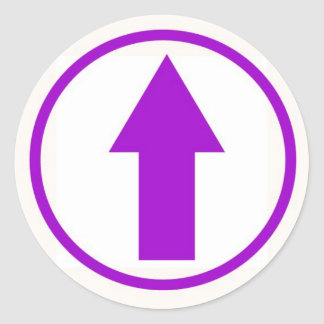 Stick it to the influence - Purple Classic Round Sticker