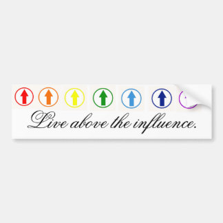 Stick it to the influence - Rainbow Bumper Stickers