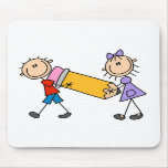 Stick Kids With Pencil Mouse Pad