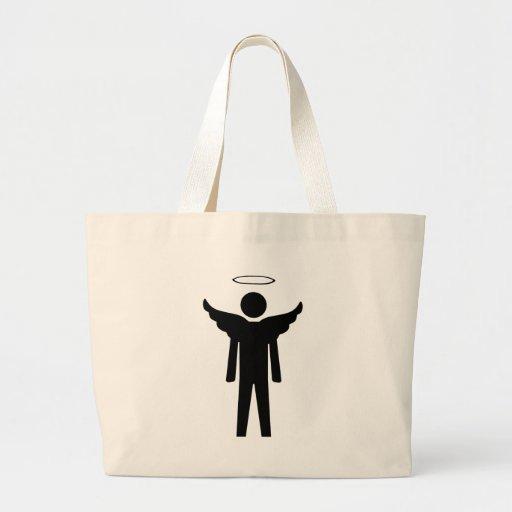Stick Man Angel Canvas Bags