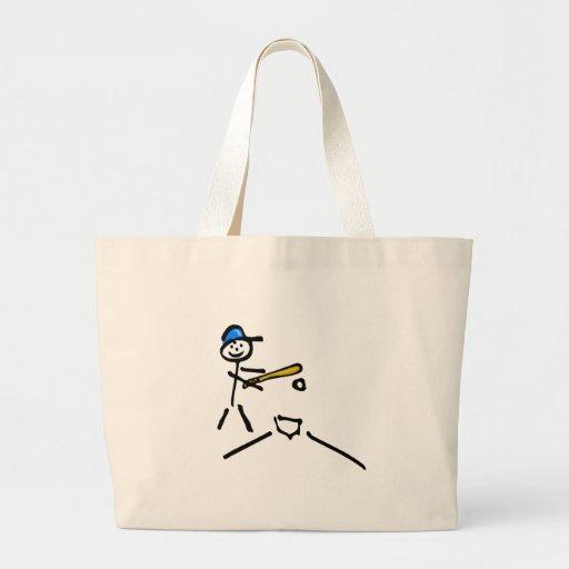 Stick Man Baseball Canvas Bag