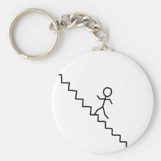 Stick man going up the stairs keychain