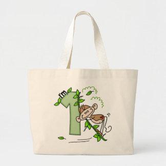 Stick Monkey Swing 1st Birthday Bags