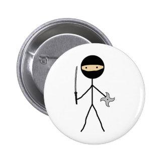 Stick Ninja Pinback Buttons