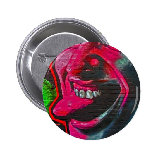 Stick Out Tongue, East Side Gallery, Berlin Wall-1 Button