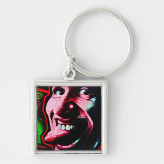 Stick Out Tongue, East Side Gallery, Berlin Wall-2 Keychain