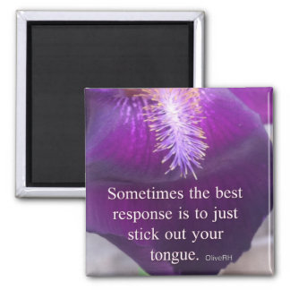 Stick out your tongue 2 inch square magnet