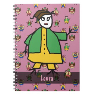 Stick People Children Pattern Girl any Name