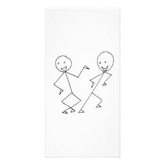 Stick People Dancing Custom Photo Card