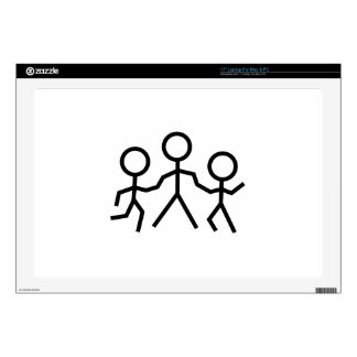 Stick People Decals For Laptops
