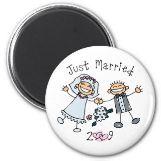 Stick People Just Married 2009 Refrigerator Magnets