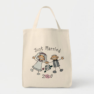 Stick People Just Married 2009 Tote Bag