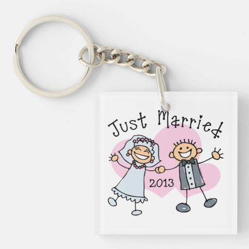 Stick People Just Married Key Chains