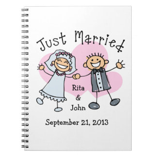 Stick People Just Married Note Books