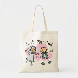 Stick People Just Married Tote Bag