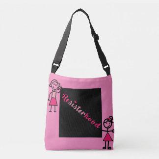 Stick People #Resisterhood Pink Political Bag