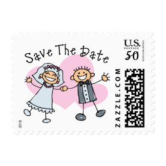 Stick People Save The Date Postage