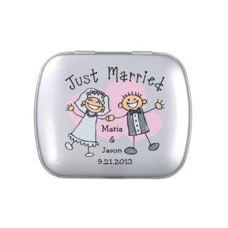 Stick People Wedding Candy Tins