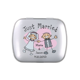 Stick People Wedding Candy Tins