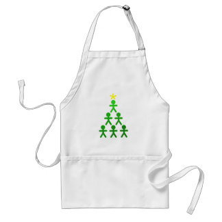 Stick People Xmas Tree Apron
