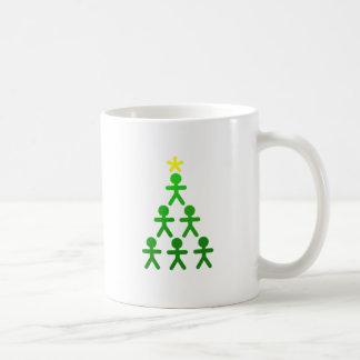 Stick People Xmas Tree.png Coffee Mug
