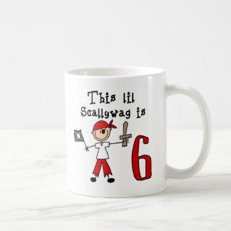 Stick Pirate 6th Birthday Coffee Mug